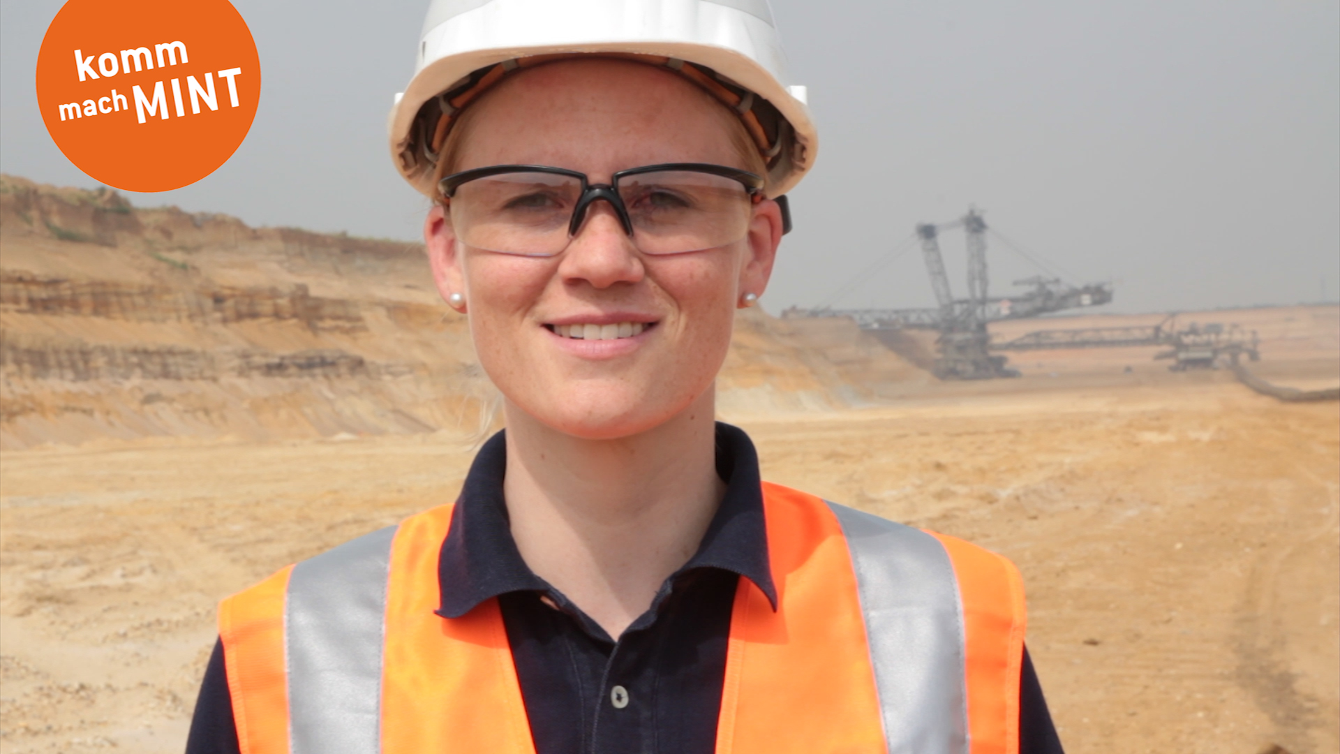 Ingenieurin im Tagebau
