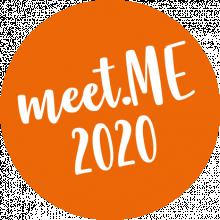 Kreis mit Schriftzug meet ME 2020