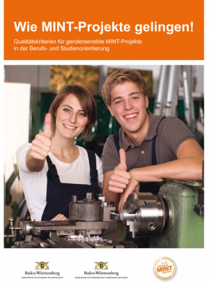 "Titelbild Broschüre ""Wie MINT-Projekte gelingen"""